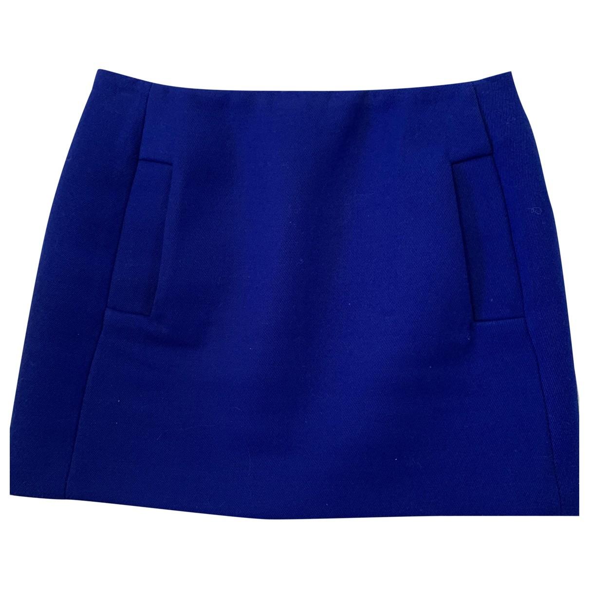 Maje \N Blue Wool skirt for Women 36 FR