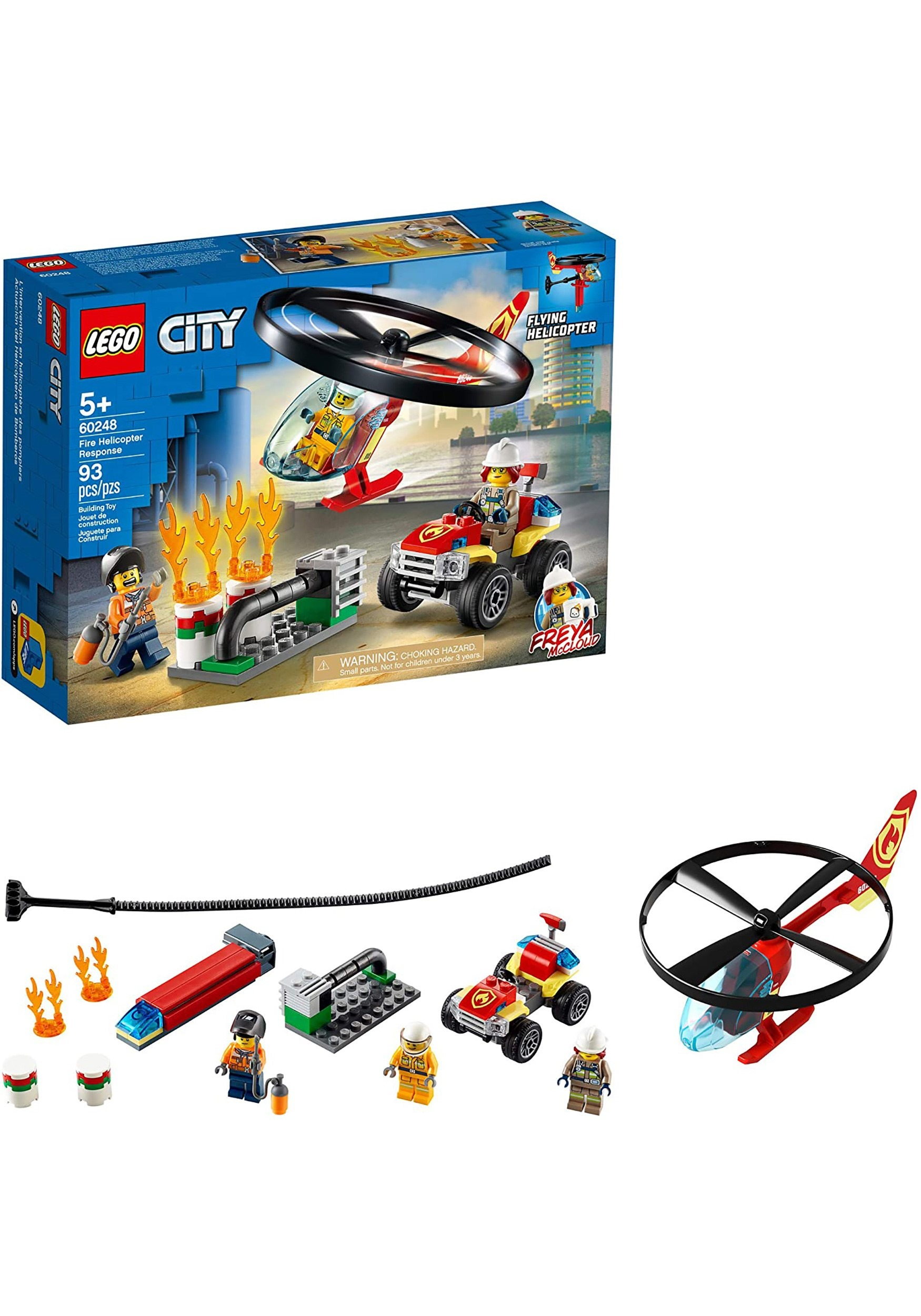 Fire Helicopter Response Building Set LEGO City