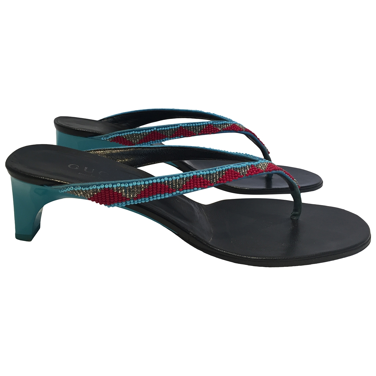Gucci \N Multicolour Leather Sandals for Women 38.5 IT