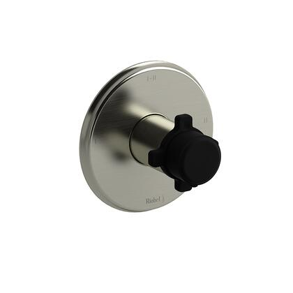 Momenti MMRD23XBNBK 2-Way Thermostatic/Pressure Balance Coaxial Complete Valve with x Cross Handles  in Brushed