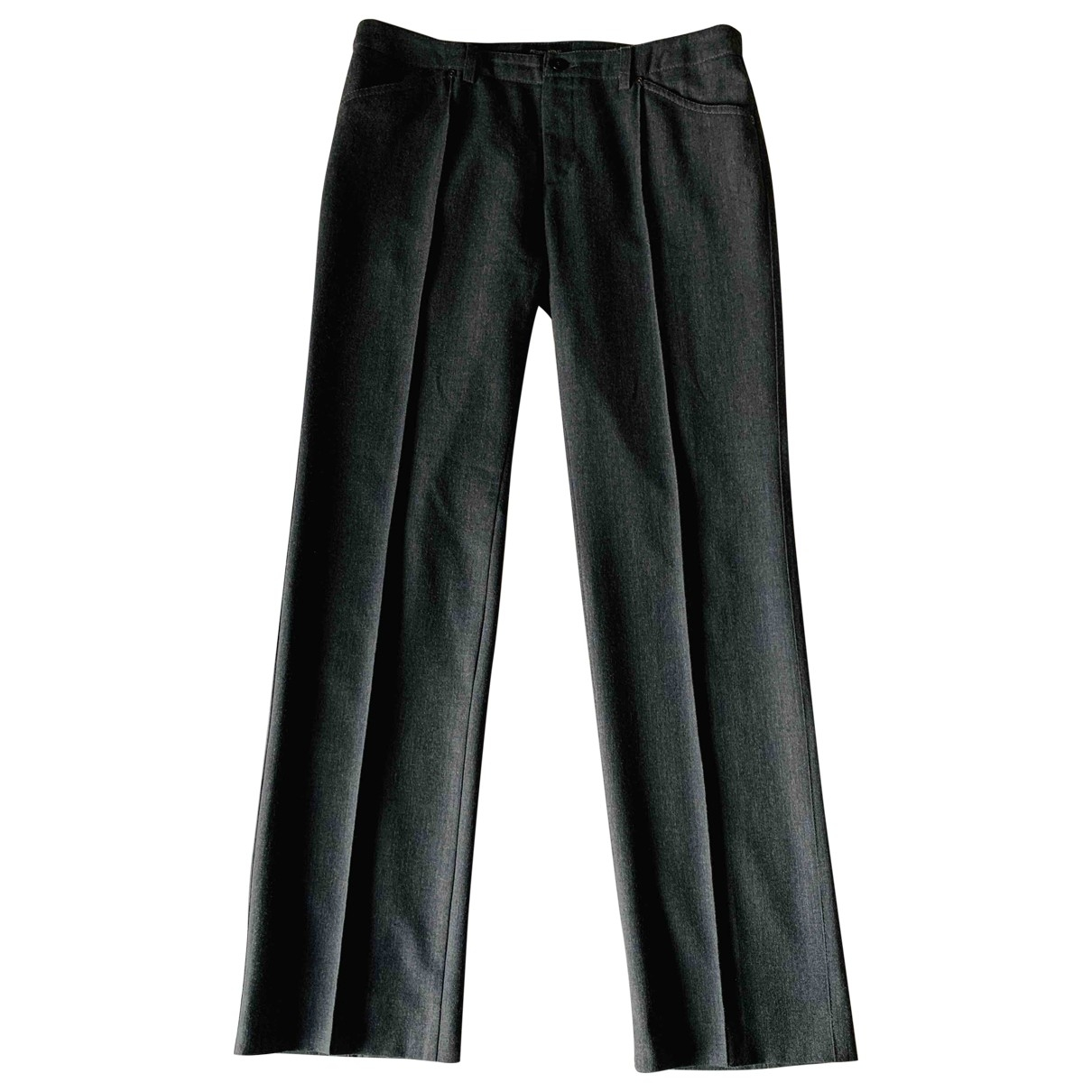 Non Signé / Unsigned \N Wool Trousers for Women 44 FR