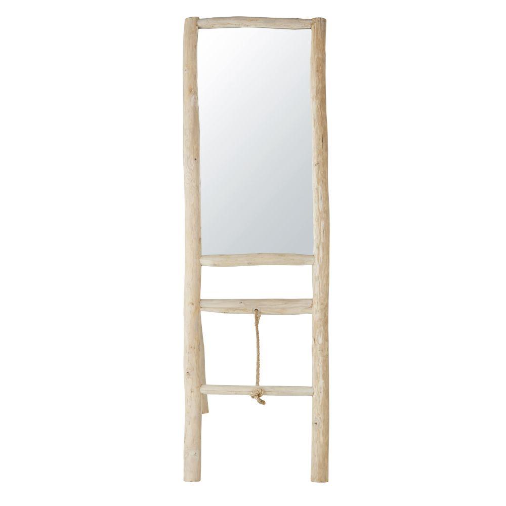 Spiegel aus Teakholz 51x158