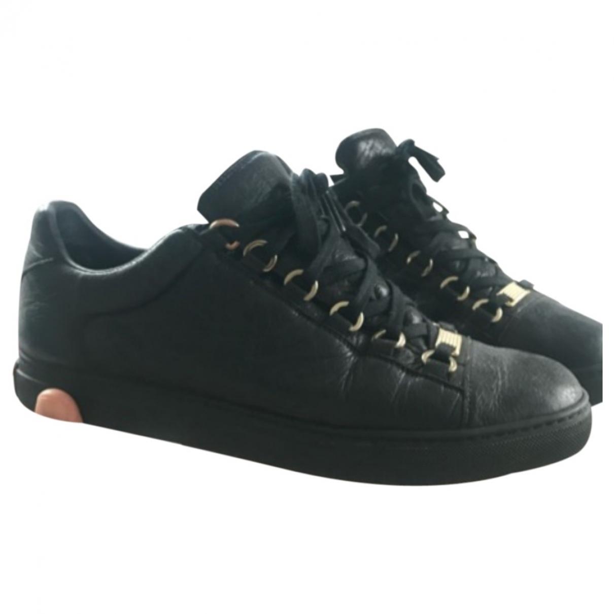 Balenciaga Arena Black Leather Trainers for Men 40 EU