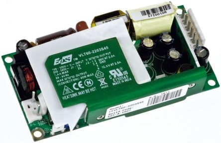 EOS , 60W Embedded Switch Mode Power Supply SMPS, 15V dc, Open Frame
