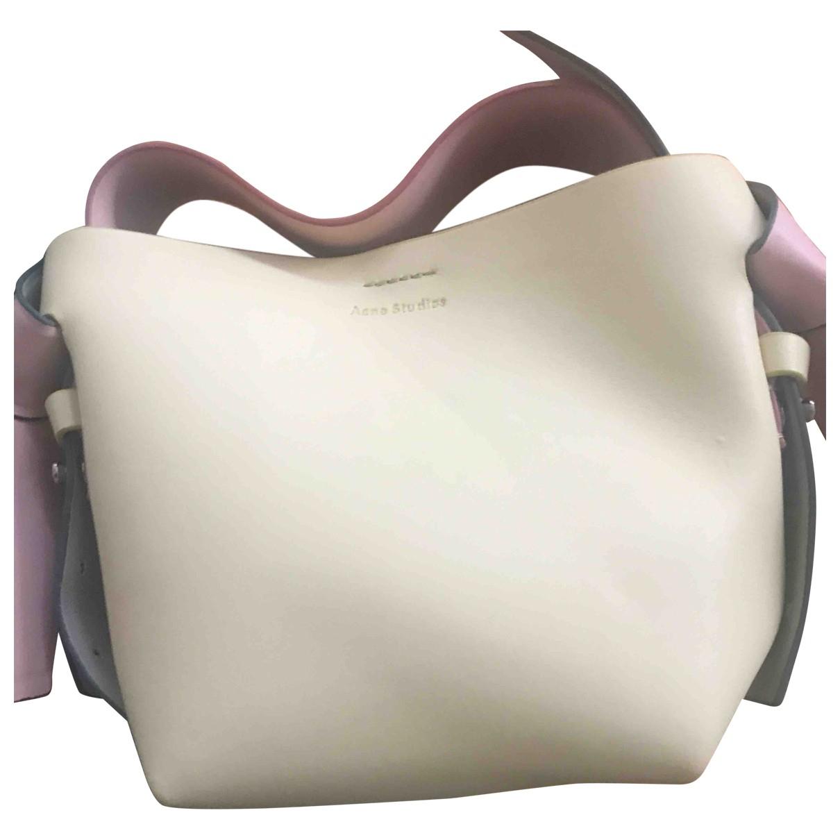 Acne Studios Musubi Handtasche in  Gelb Leder