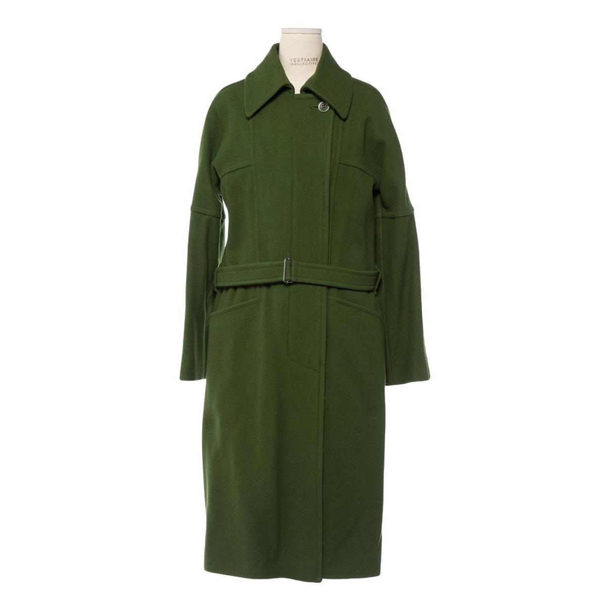 Dries Van Noten - Manteau   pour femme en laine - vert