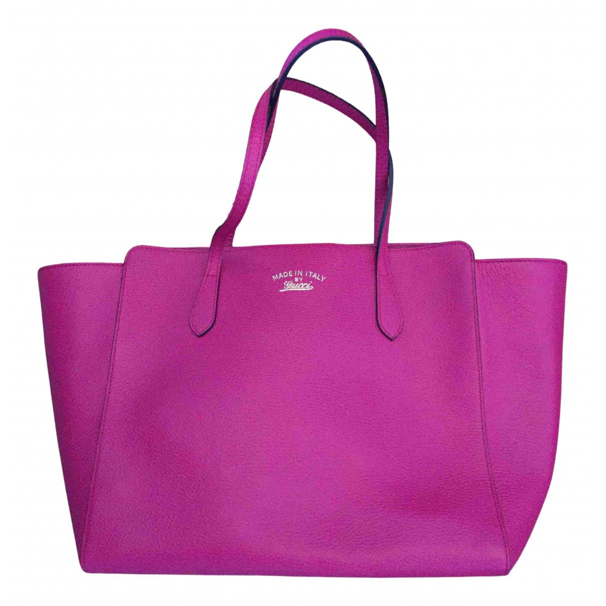 Gucci Swing Handtasche in  Rosa Leder