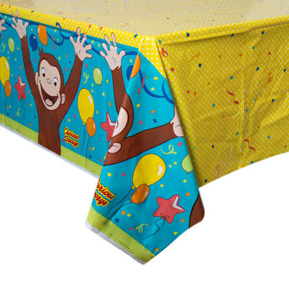 Curious George 1 Plastic Tablecover 54