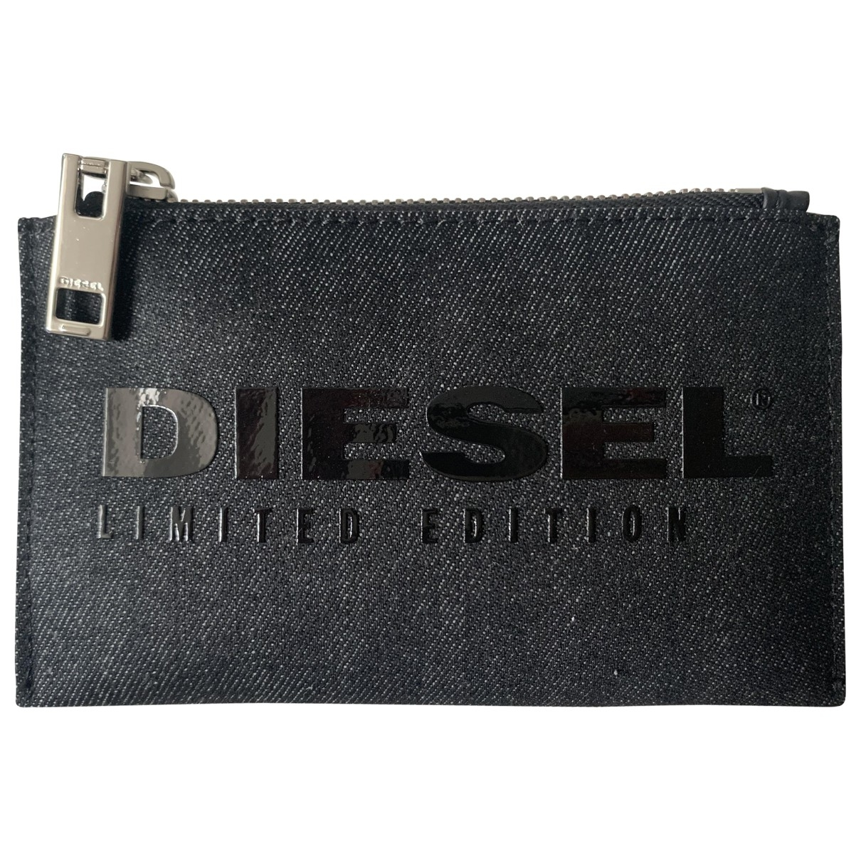 Diesel - Petite maroquinerie   pour homme en denim - noir