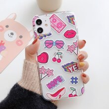 Cartoon Clear iPhone Case