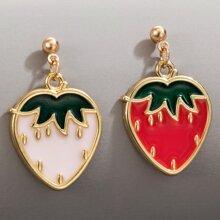 Strawberry Drop Earrings