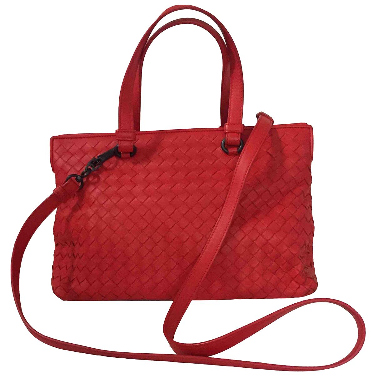 Bottega Veneta Fourre-Tout  Handtasche in  Rot Leder