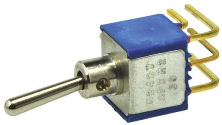 APEM DPST Toggle Switch, Latching, PCB