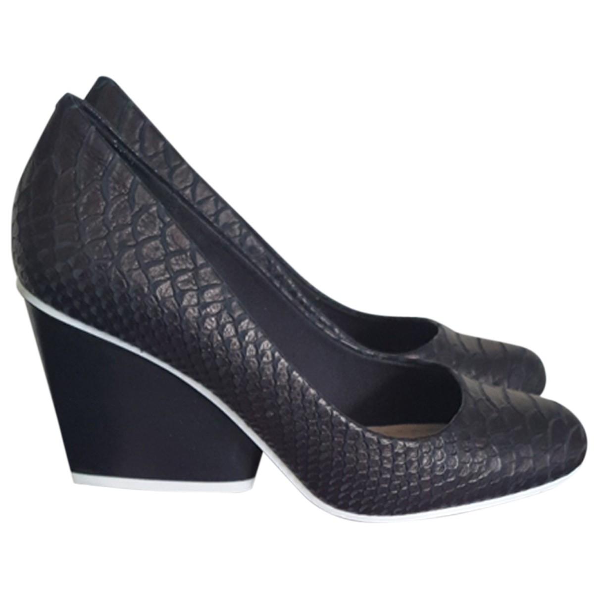 Clarks - Escarpins   pour femme en cuir - noir