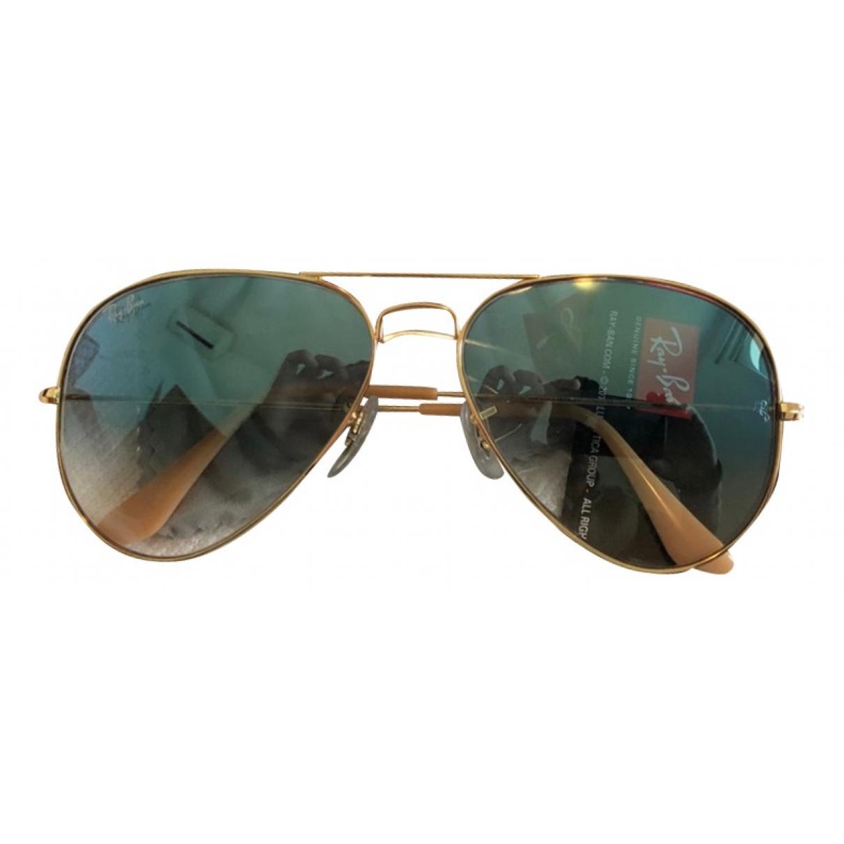 Ray-ban Aviator Blue Metal Sunglasses for Men \N