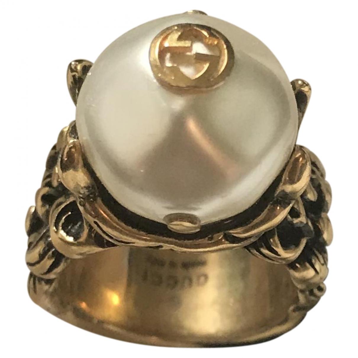 Gucci - Bague   pour femme en plaque or - dore