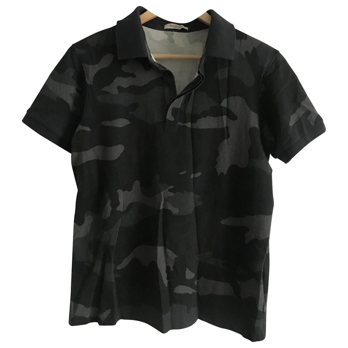 Valentino Garavani \N Poloshirts in  Khaki Baumwolle