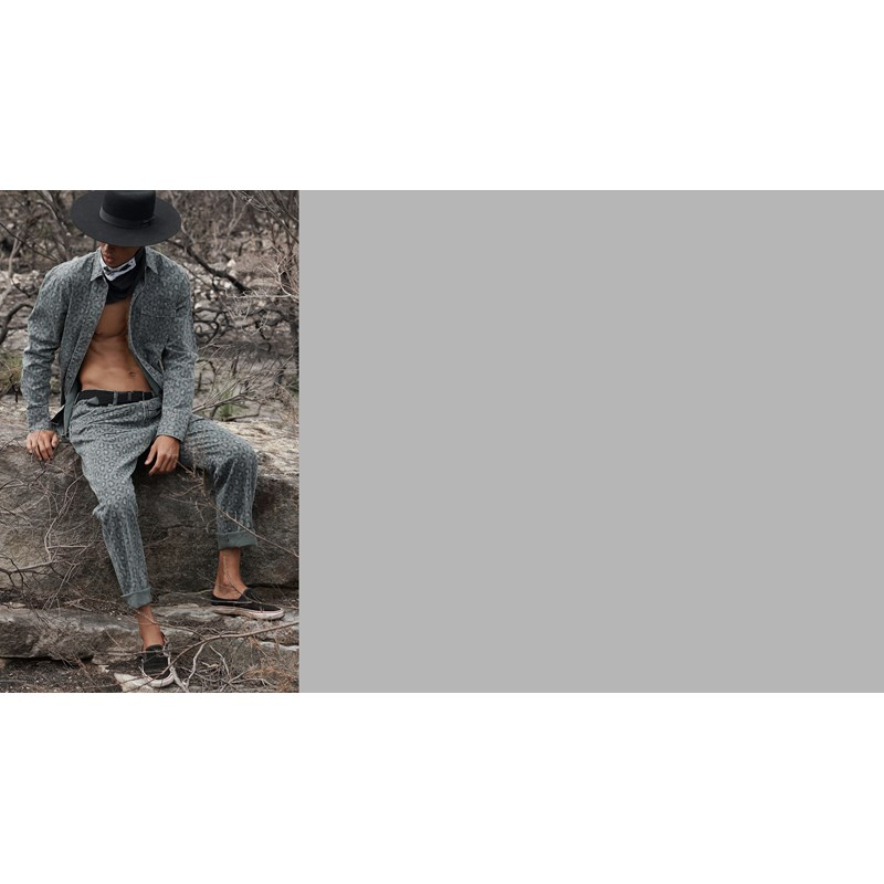 LEOPARD NIGHT CRAWLER MR BANDITS RELAXED JEAN