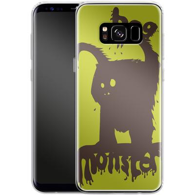 Samsung Galaxy S8 Silikon Handyhuelle - Boo Monster von caseable Designs