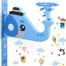 1pc Kids Height Measurement Cartoon Wall Sticker