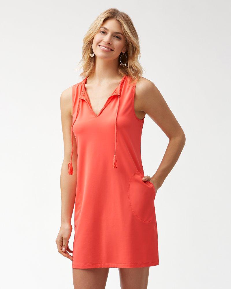 Pearl Split-Neck Swim Dress