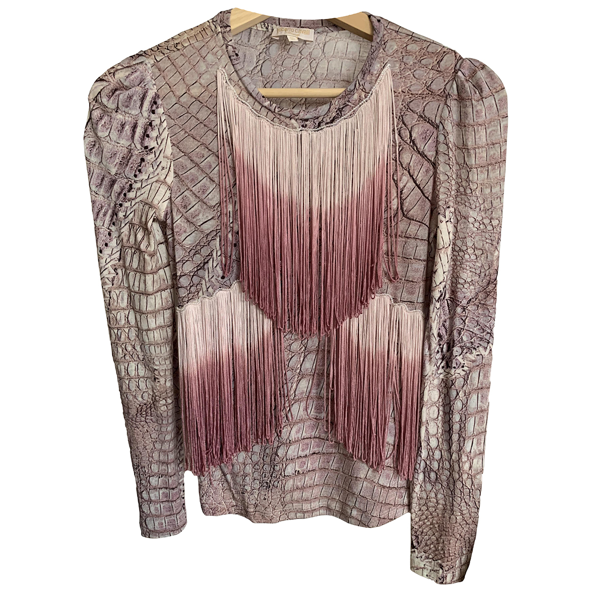 Roberto Cavalli \N Pink Cotton  top for Women 34 FR