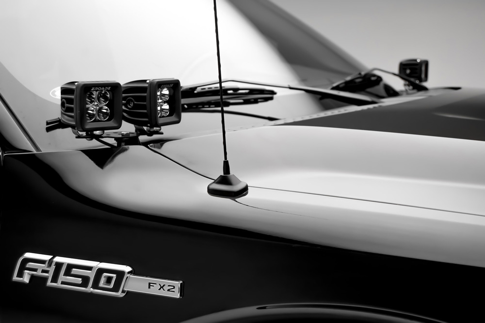 Ford Hood Hinge LED Kit Incl. (4) 3 Inch LED Pod Lights PN Z365601-KIT4
