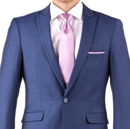 Slim Fit Peak Lapel Groom & Groomsmen Wedding Suits & Tuxedo
