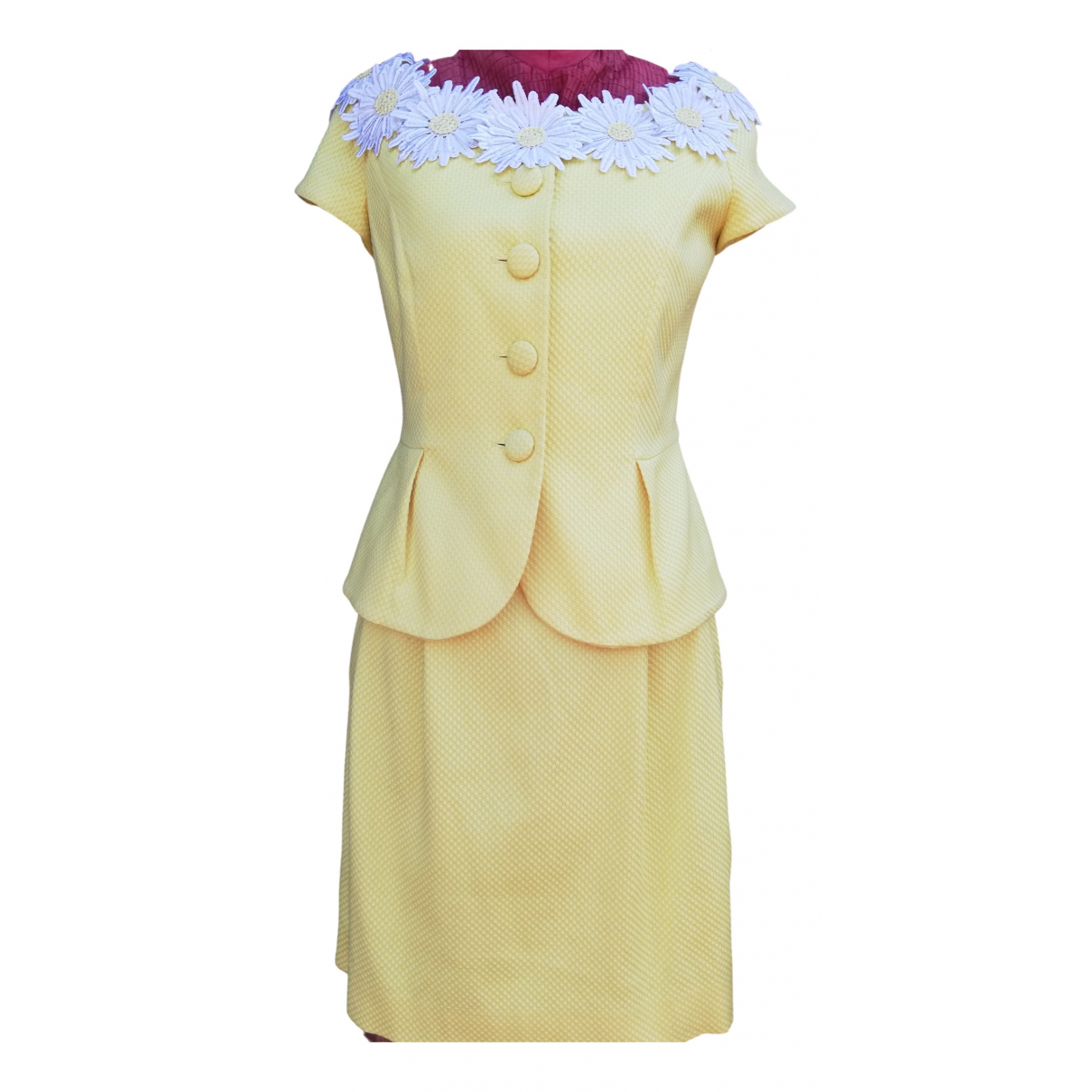 Non Signé / Unsigned \N Yellow Cotton dress for Women 42 IT