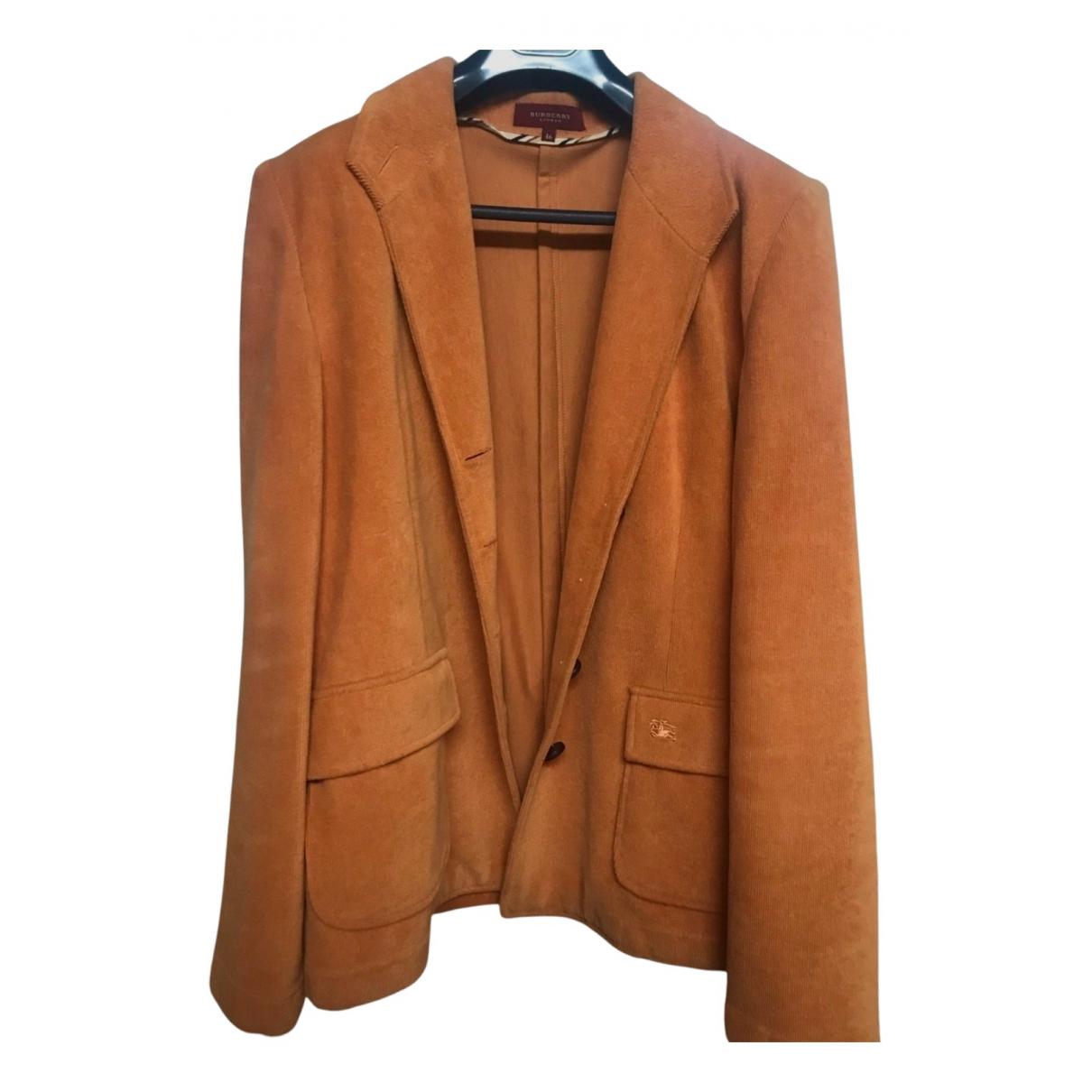 Burberry N Orange Cashmere jacket for Women 42 FR