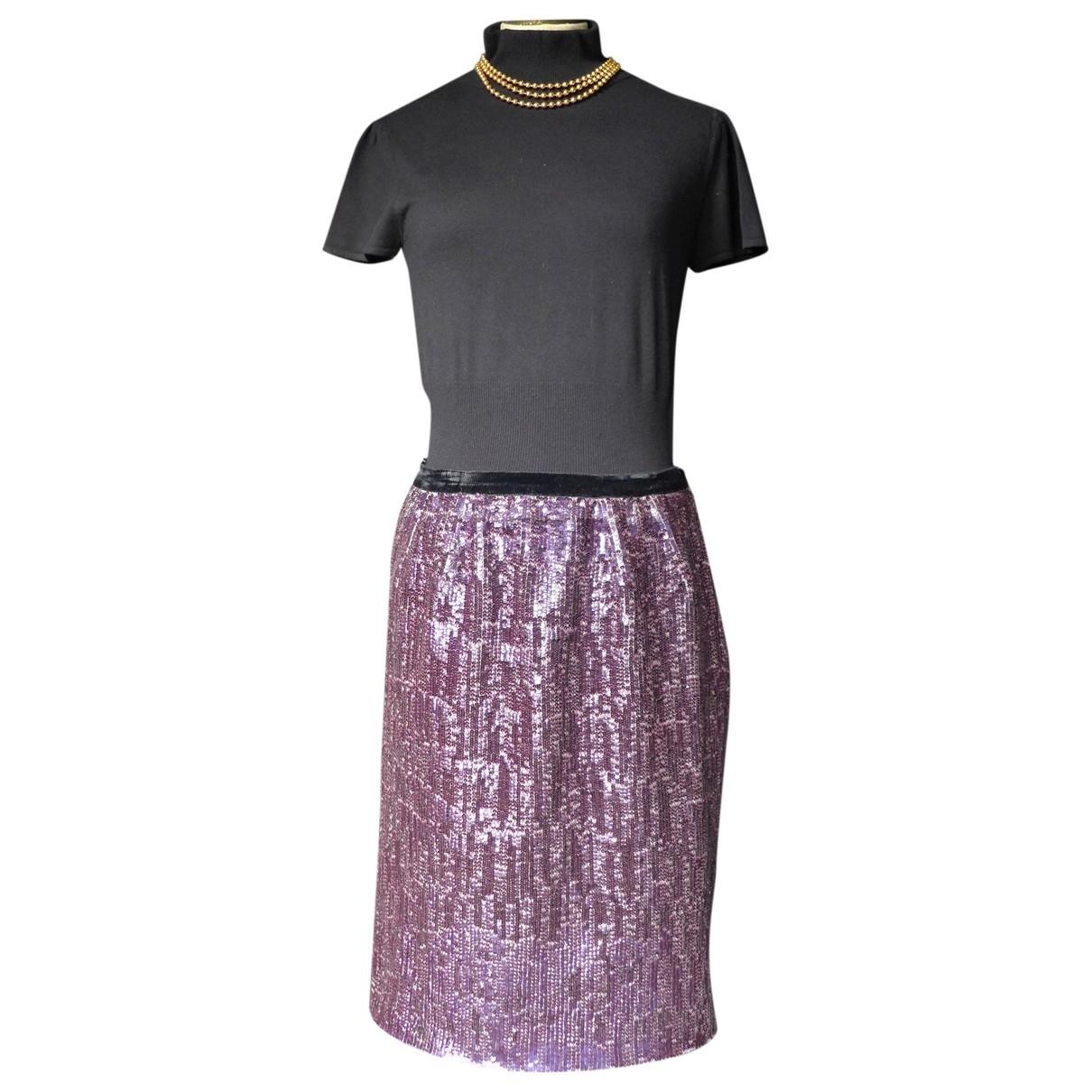 Falda midi de Con lentejuelas Lanvin