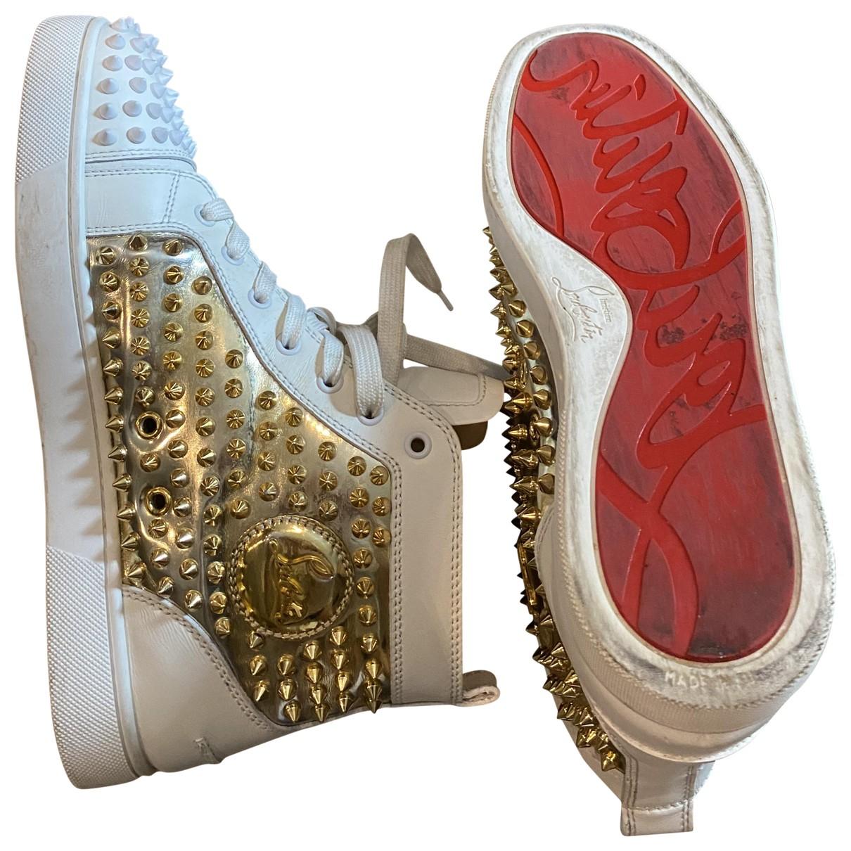 Christian Louboutin \N Sneakers in  Weiss Leder