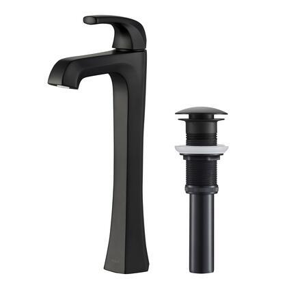 KVF-1210MB-2PK Esta Single Handle Vessel Bathroom Faucet with Pop-Up Drain in Matte Black