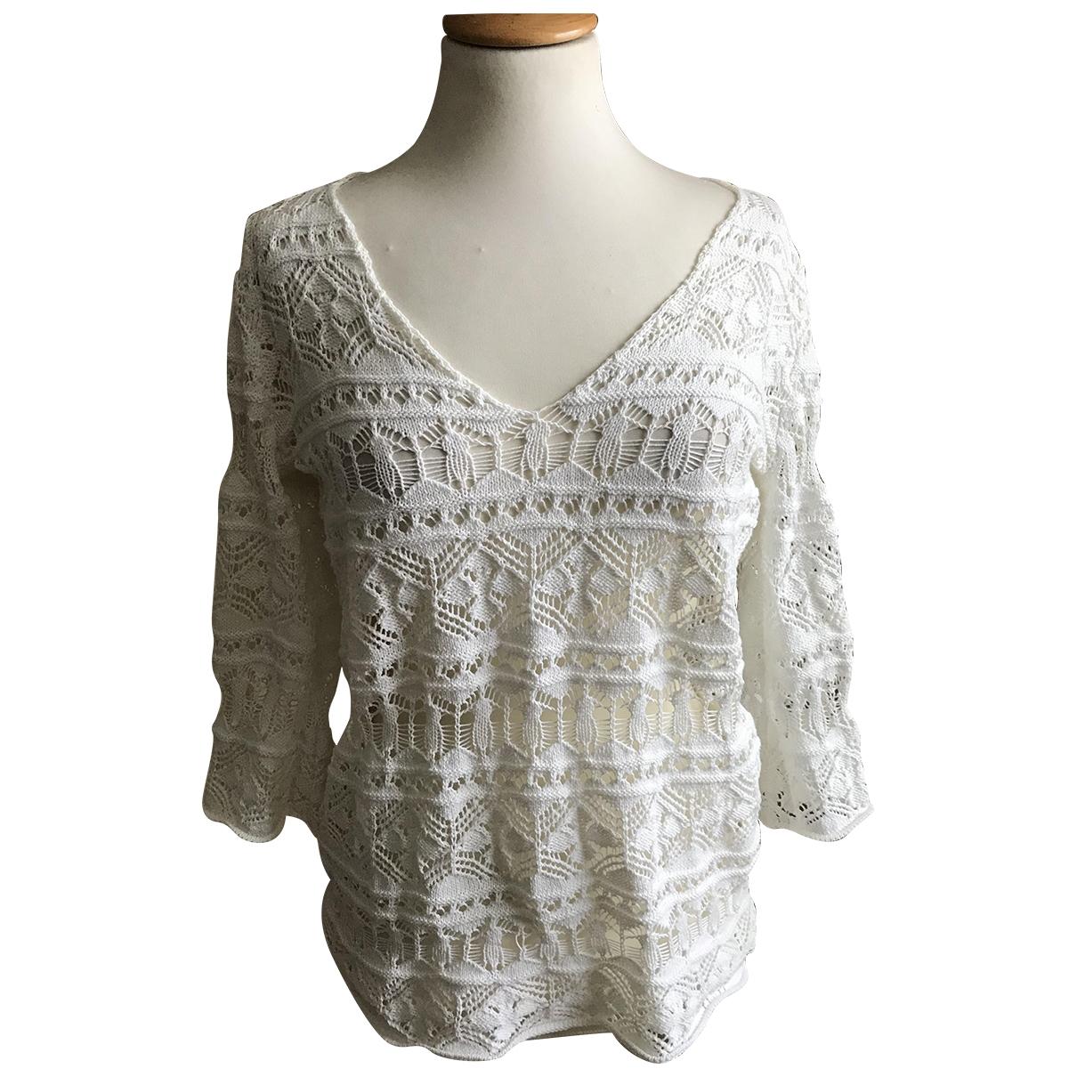 Parosh - Pull   pour femme en coton - blanc