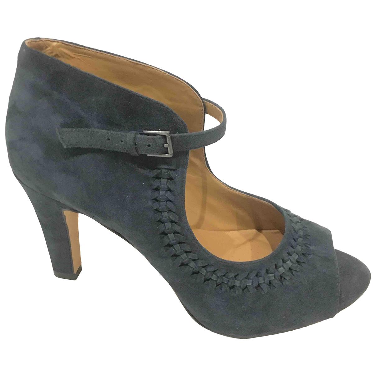 Clarks N Blue Leather Heels for Women 39 IT