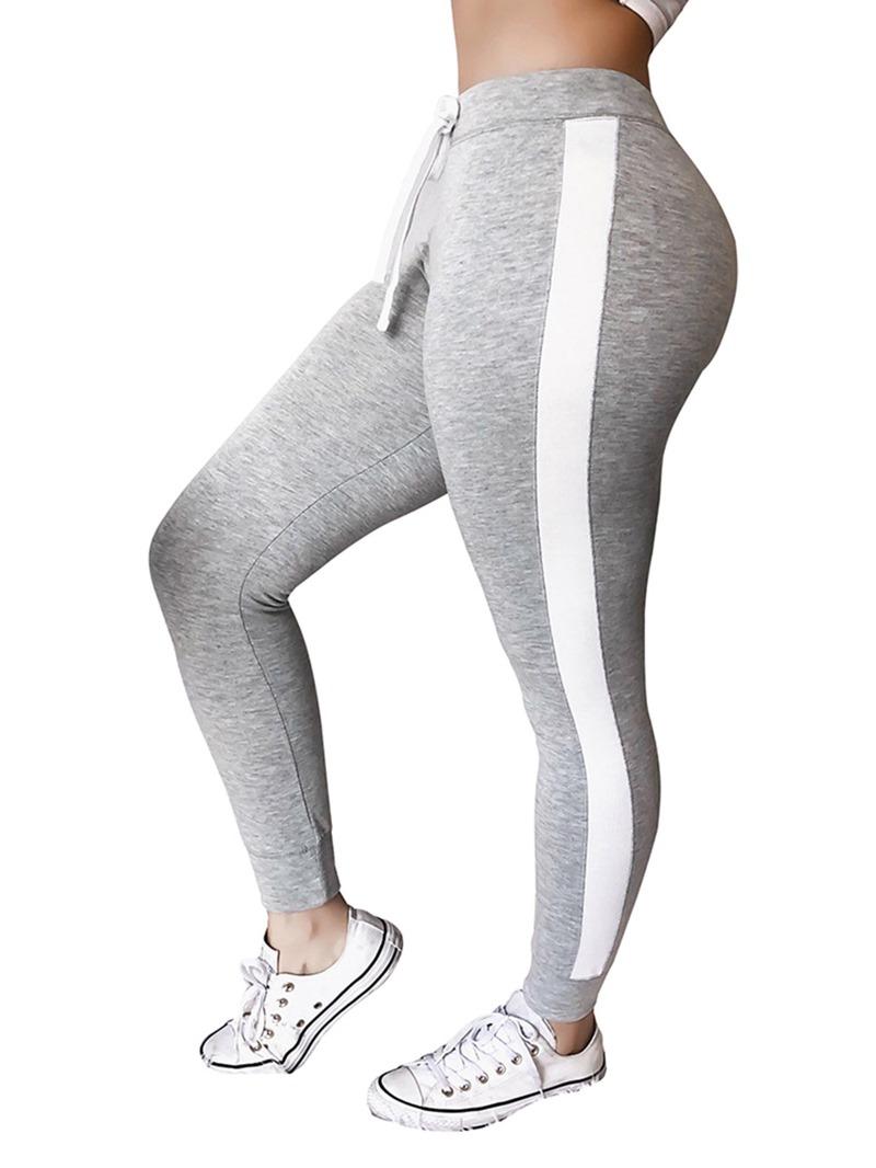 Ericdress Lace-Up Stripe Women's Leggings