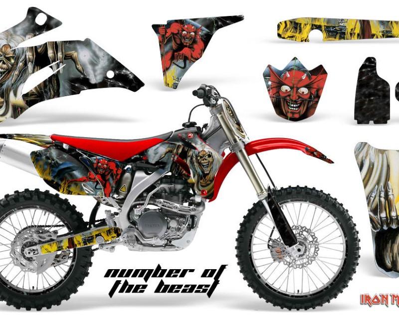 AMR Racing Graphics MX-NP-YAM-YZ250F-YZ450F-06-09-IM NOTB Kit Decal Wrap + # Plates For Yamaha YZ250F YZ450F 2006-2009áIM NOTB