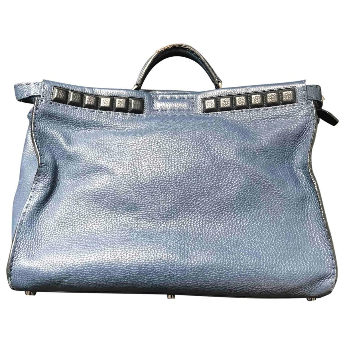 Fendi Peekaboo Blue Leather bag for Men \N