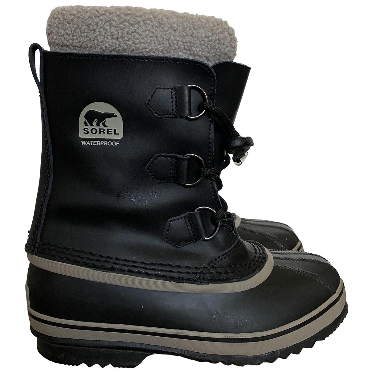 Sorel N Black Rubber Boots for Kids 35 FR