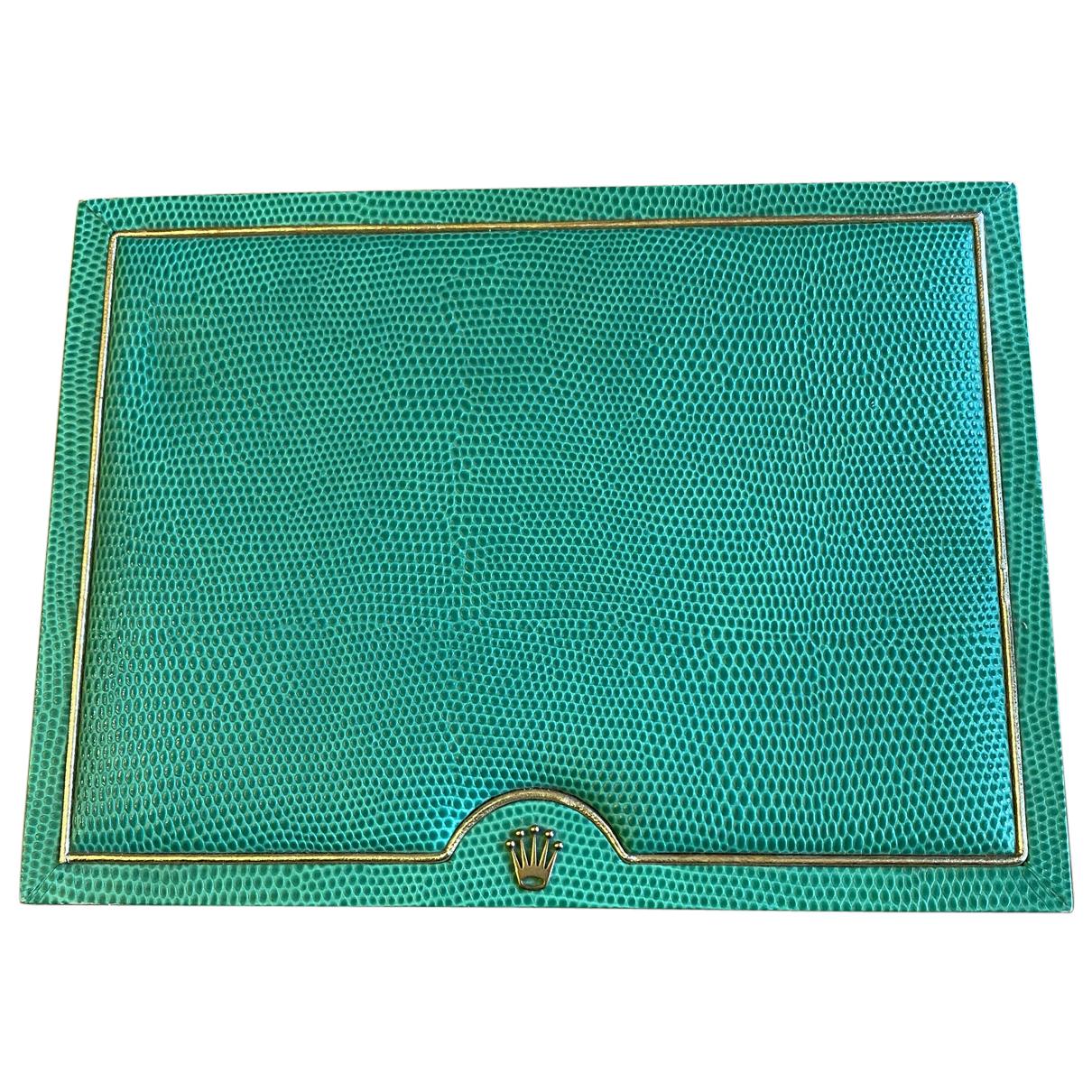 Rolex - Objets & Deco   pour lifestyle en lezard - turquoise