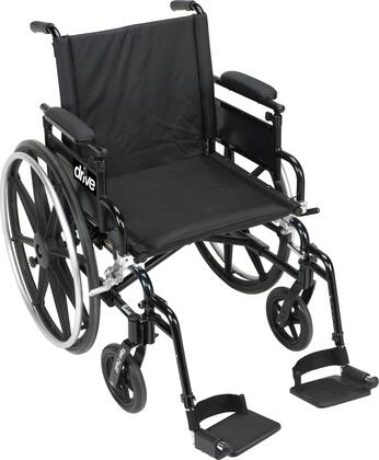 pla416fbdaarad-sf Viper Plus Gt Wheelchair With Flip Back Removable Adjustable Desk Arms  Swing Away Footrests  16