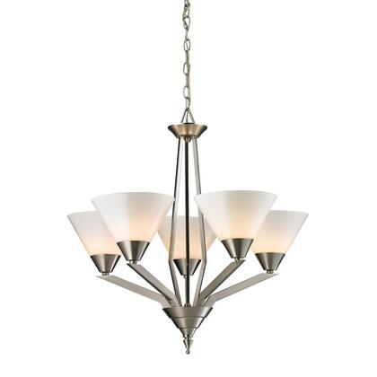 2455Ch/20 Tribecca 5 Light Chandelier In Brushed