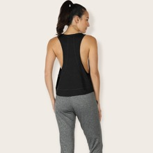 Drop Armhole Sports Tank Top Without Bra