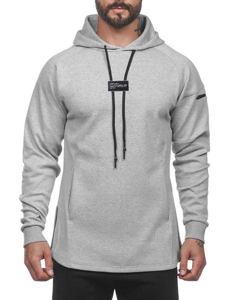 Milanoo Sudadera con capucha de manga larga con capucha para hombre con bolsillos
