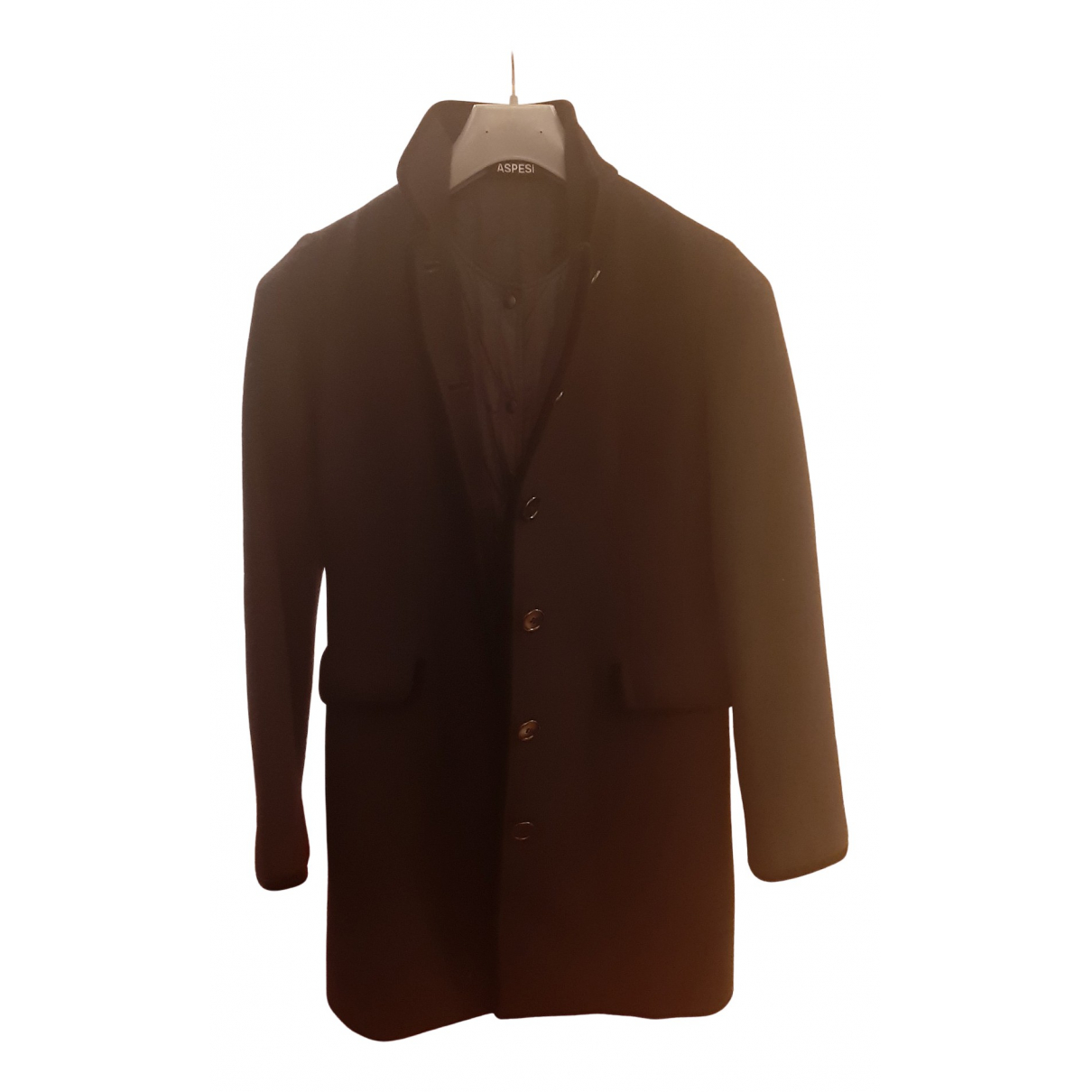 Aspesi N Black Wool coat for Women 42 FR
