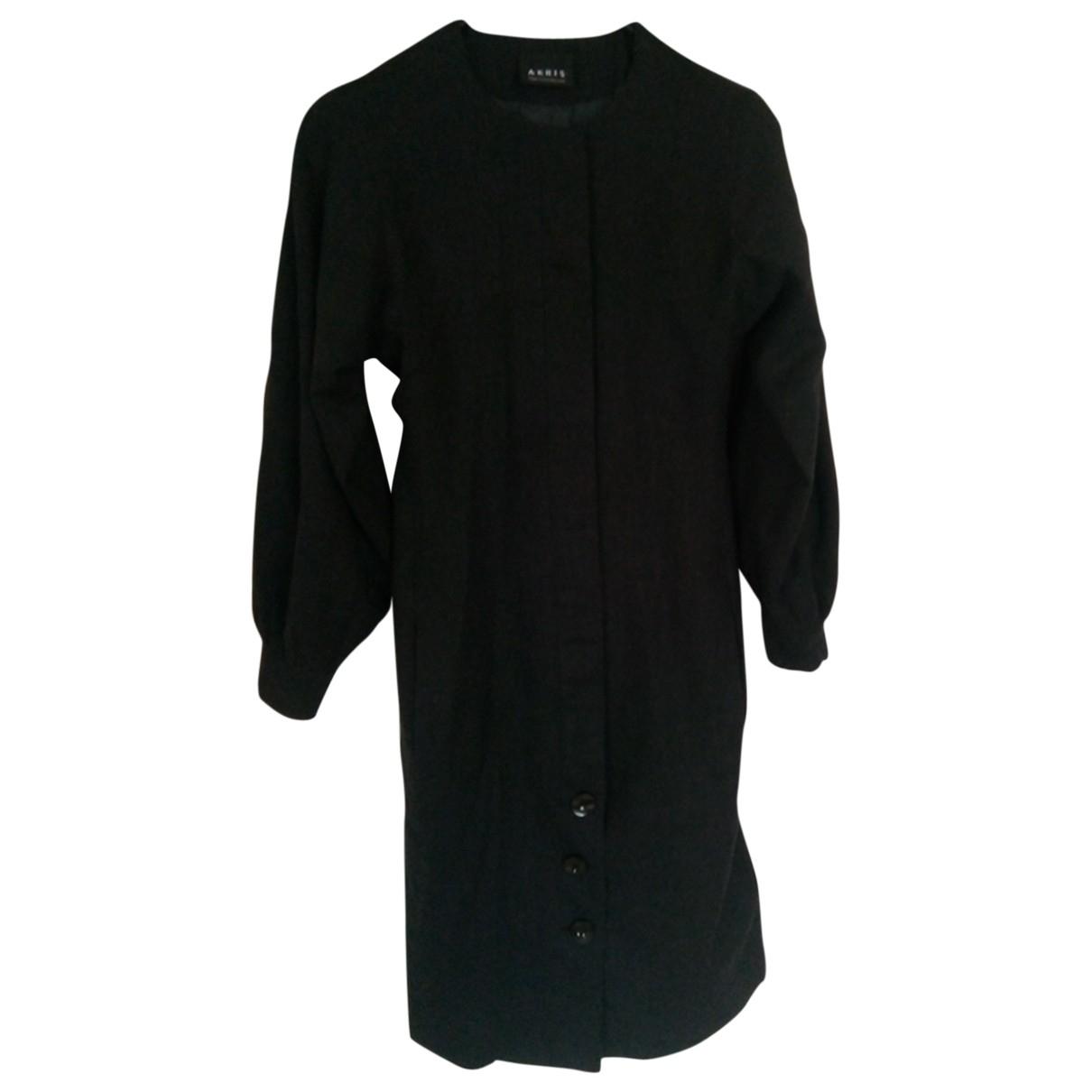 Akris \N Kleid in  Anthrazit Wolle