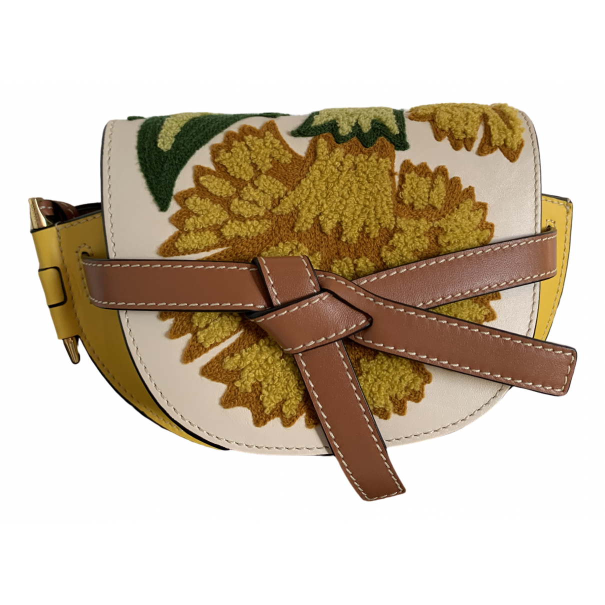 Loewe Gate Yellow Leather handbag for Women \N