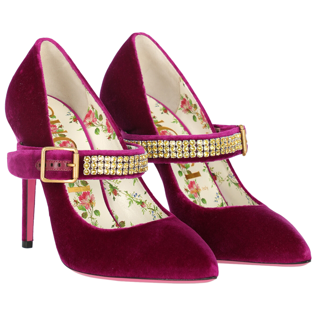 Gucci \N Pumps in  Rosa Samt