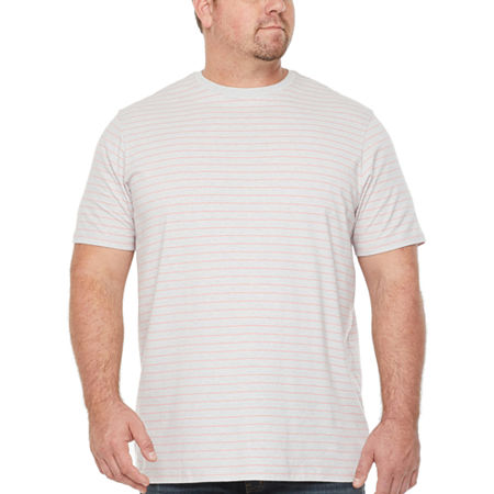 The Foundry Big & Tall Supply Co.-Big Mens Crew Neck Short Sleeve T-Shirt, Large Tall , Gray