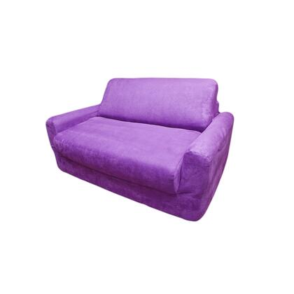 11206 Sofa Sleeper With Pillows Purple Micro